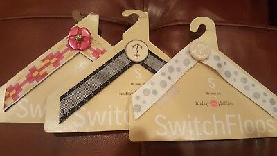 Lot of 3 size small LINDSAY PHILLIPS SWITCHFLOP STRAPS NEW Alexis Andrea Niki