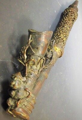 Very Large Bronze Ceremonial Cameroonian Bamun Chiefs Pipe 59cms