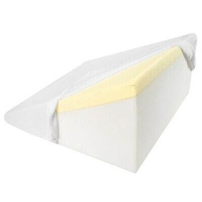 "Support Plus Bed Wedge Memory Foam Pillow - Washable, Removable Cover - 12.5"" H"
