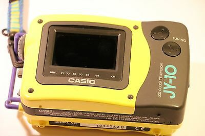 "Very Rare Casio JY-10 Handheld Colour TV 2.3"" LCD"
