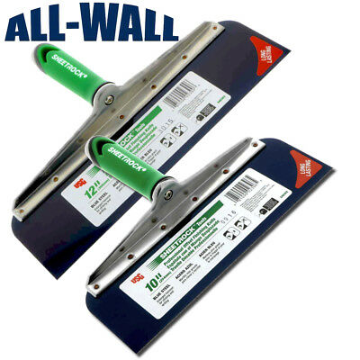 "USG Sheetrock Drywall Offset Taping Knife Combo - 10"" & 12"" Blue Steel, Riveted"