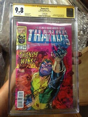 King THANOS 13 CGC SS 9.8 Lenticular Signed Donny Cates 1st Cosmic Ghost Rider