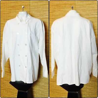 Chef Coat 4XL Long Sleeve Button Down White Unisex NWOT (A)