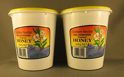 Creamed Leatherwood Honey, Organic, Twin Pack,  2 * 500gms, free shipping
