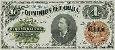 Dominion of Canada Complete Set of 4 Dollars 1882, 1900 & 1902 Reproduce