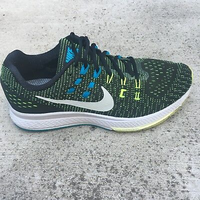 super popular 2272f dcd9f MEN'S NIKE ZOOM Structure 19 Running Shoes, Sizes 7.5 Black Volt Blue  806580 010