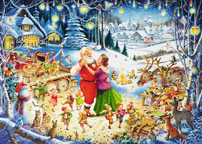 Ravensburger Christmas Edition The Feastiv of Feasts  Jigsaw 1000 pieces Puzzle