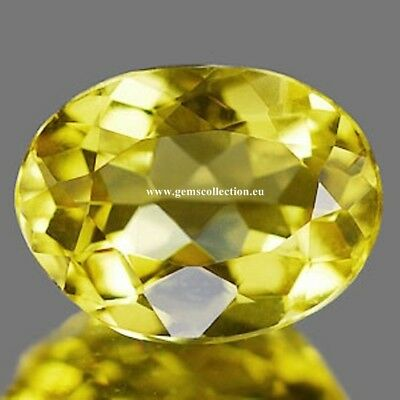Aaa Natural Beryl Heliodor Ct 1.33 Vvs Yellow Color  Oval Cut Stunning Brazil