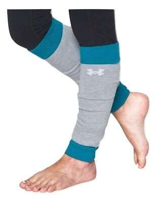 New Under Armour Girl's Set of 2 Sport Leg Warmers Turquoise Youth One Size