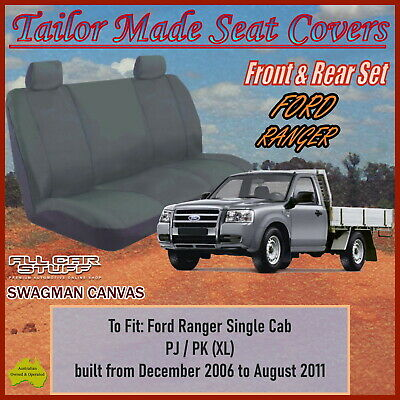 Heavy Duty Canvas Seat Covers for Ford Ranger PJ Single Cab: 12/2006 to 08/2011