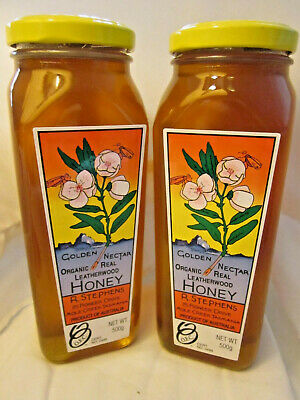 Organic Tasmanian Leatherwood Honey, Twin Pack, Free shipping, 2 * 500gm jars