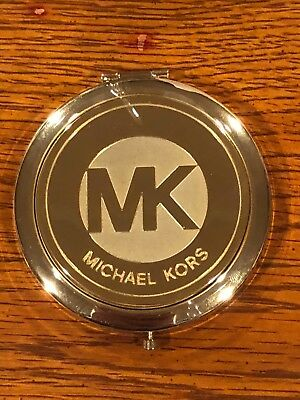 Brand New Michael MICHAEL KORS Double Sided Gold Compact Mirror