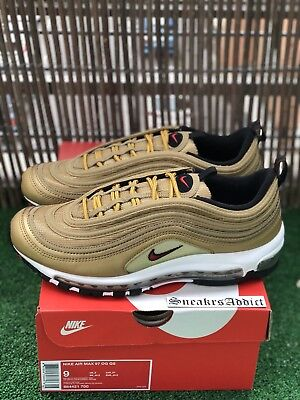 Nike Air Max 97 OG QS Uk8 Eu425 Gold Bullet Camo Patta Atmos 95 96 98 Cr