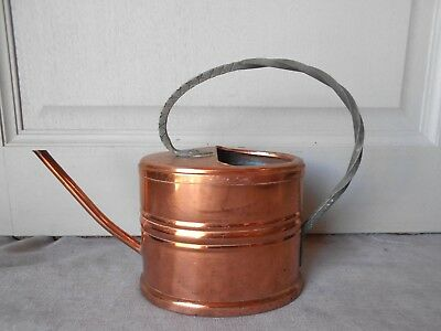 Vintage FRENCH COPPER & Iron  WATERING CAN