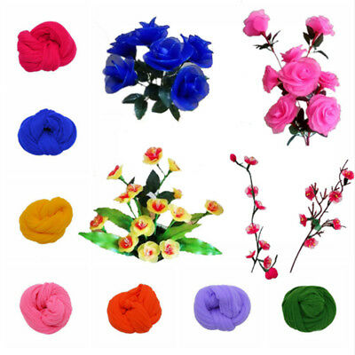 5pcs Multicolor Nylon Stocking Making Artificial Mesh Flower Arrangement Stamen