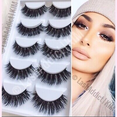 5006ad3bd56 Extra WSP 3D Mink Lashes Eyelashes Luxury New Makeup Fur 3 Pair 💕 USA  SELLER
