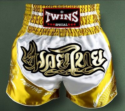 Twins Special Tbs - 4 Dragon Muay Thai/Boxing Shorts Size M