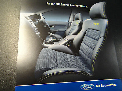 Ba Ford Falcon Xr Sports Leather Seats Brochure Oct 2003