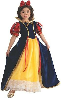 Licensed Deluxe Snow White Princess Child Girls Fancy Dress Book Week Costume