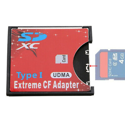SDHC SDXC To CF Compact Flash Memory Card Adapter Reader I Card SD Cover