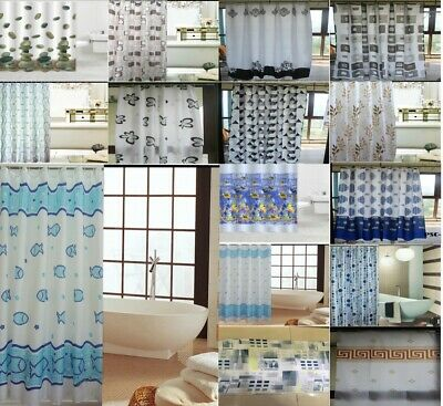Shower Curtains Printed Bathroom Polyester Fabric Waterproof Shiny Polyester100%