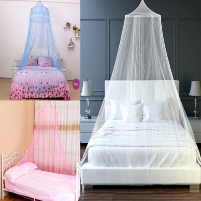 Elegant Princess Mosquito Net Mesh Round Queen Canopy Curtain Dome Bedding Net