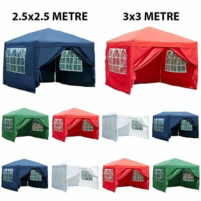 Gazebo Marquee Party Tent With Sides Waterproof Garden Pop Up Outdoor Canopy