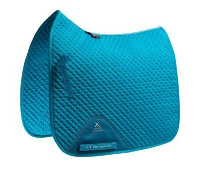 PEI Plain Cotton Saddle Pad - Dressage - Peacock Blue