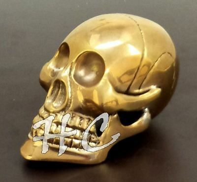 Skull Head Style Solid Brass Handle For Wooden Walking Stick & Vintage Canes