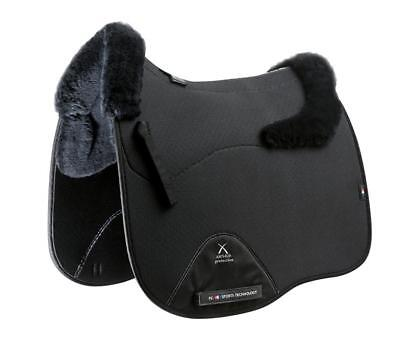 PEI Airtechnology Shockproof Wool Saddle Pad - Black with Black Wool