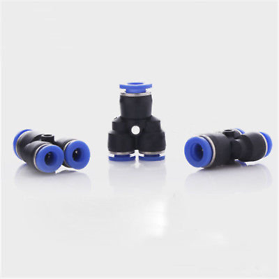 Pneumatic Reducer Y shaped Fittings Push in Connect Joint Splitter All Sizes AU