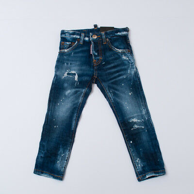 """Jeans Effect Delave For Kids (4/6/10/12/14/16Y)""""dsquared2"""" Dq01Pw 2018 [-50%]"""