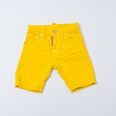 """Yellow Short For Boy Kids (8/10/12/14/16Y) """"dsquared2"""" Dq024D 2018 [-50%]"""