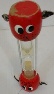 Vintage Dog Head Hourglass Egg Timer With Sand And Water