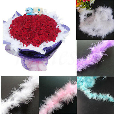 1.8M Marabou String Feather Boa Fancy Dress Party Decor Flower Wrapping Supplies
