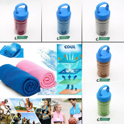 Sports Cooling Towel Ice Cold Cycling Jogging Gym Outdoor Exercise Sweat Towels