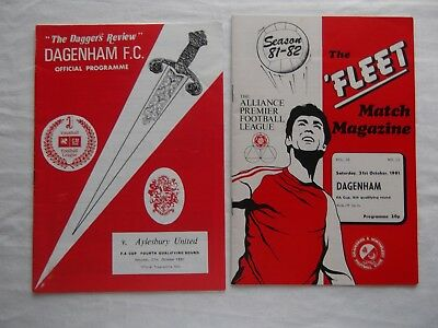 Two FA Cup 4th Qualifying Rounds Dagenham Vs Gravesand 1981 & Aylesbury 1990 VGC