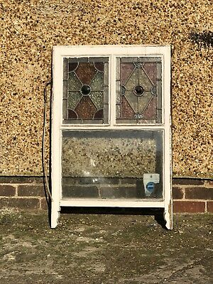 Reclaimed Old Stained Glass Victorian Edwardian Panel Window
