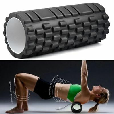 Fitness Direct Foam Roller Trigger Point Textured Massage Therapy Yoga Grid BN