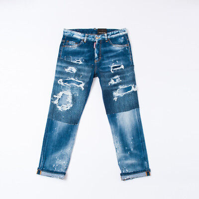 """Jeans Effect Delave For Kids Boy Lasts (14/16Y)  """"dsquared2""""  Dq02Md 2018 [-50%]"""
