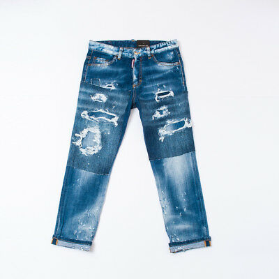 """Jeans Effect Delave For Kids Boy Lasts (16Y)  """"dsquared2""""  Dq02Md Ss 2018 [-50%]"""
