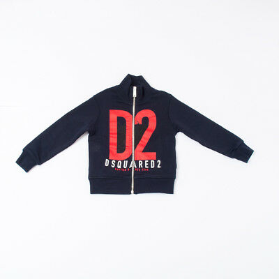"Felpa Sweatshirt With Zip Kids (10/12/14/16Y) ""dsquared2"" Dq02My 2018 [-50%]"