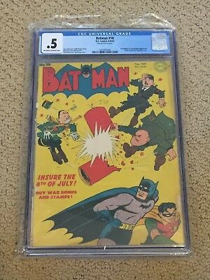 Batman 18 CGC 0.5 OW/White Pages (Classic Hitler Cover!!)