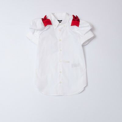 """Camicia White Shirt For Girl Bow Kid (8/16Y) """"dsquared2"""" Dq02Ql Ss 2018 [-50%]"""