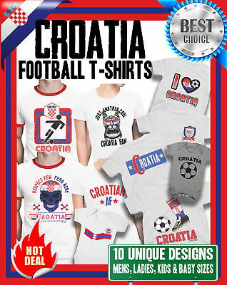 CROATIA World Cup 2018 T-Shirt Football Family Choice Mens Womens Kids Baby