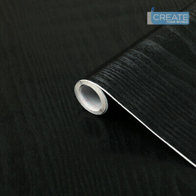 EASY FIX PLAIN MATT BLACK STICKY BACK PLASTIC SELF ADHESIVE VINYL FILM WRAP