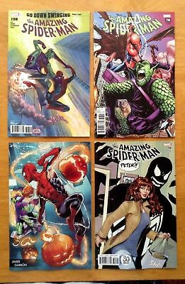 Amazing Spider-Man 798 Main + B,C,D Variants Red Goblin 1st Appearance  2018 NM