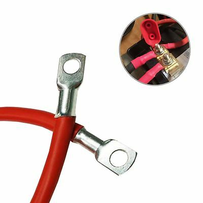 """Positive Red Battery Earth Strap 600mm / 24"""" Switch Starter Cable Car  Lead"""
