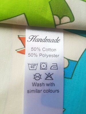 Handmade Garment wash care labels 50% cotton 50% polyester sewing labels