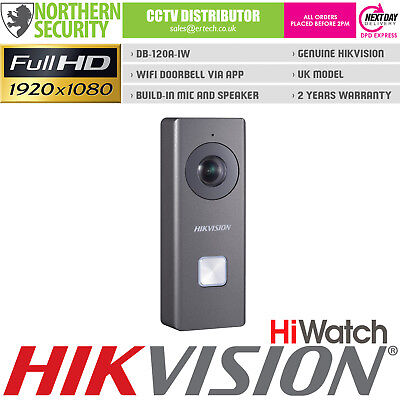 HIKVISION 2MP WIFI HD Video Ring Doorbell Villa Intercom Wireless Apple  Android